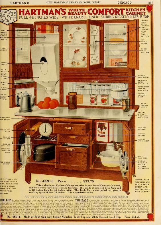 Vintage Hoosier Style Cabinet Advertisment Let Hartman feather your nest.