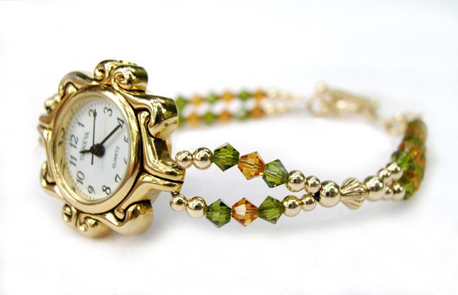 bracelet watches ladies   Beaded Watches Ladies Womens Crystal, Pearl, Wrist Watch Jewelry Bands