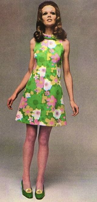 1960's Pretty A-Line dress... omg! I love this so much!                                                                                                                                                                                 More