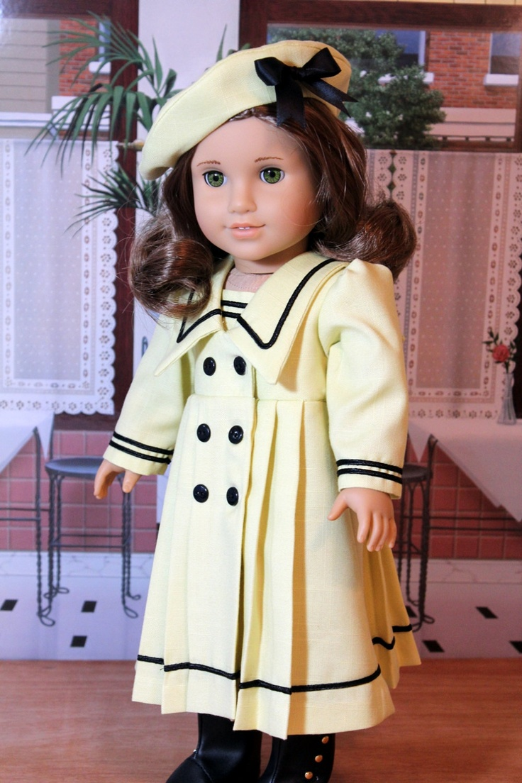 Yellow Linen Middy Dress and Hat for Rebecca or Sam. Very crisp and fresh with tiny perfect black trim. Love this look! Thanks, Betty!  $55.00, via Etsy.