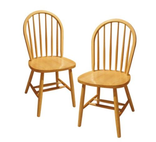 Natural Wood Windsor Chair by Winsome, 2-Set