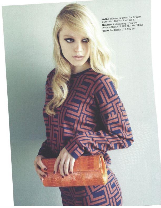 @feminadk Naledi Copenhagen NB11 Orange ostrich clutch, top and skirt Bruuns Bazar