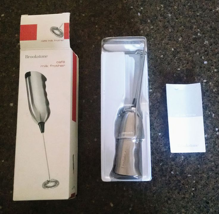 Brand New Brookstone Cafe Milk Frother