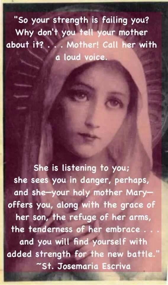 St. Josemaria Escriva--Sweet Mother...