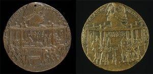 Bertoldo di Giovanni<br /><i>The Pazzi Conspiracy Medal: Lorenzo de' Medici, il Magnifico (1449–92)</i> [obverse]; <i>The Murder of Giuliano I de' Medici</i> [reverse], 1478<br />Bronze, diameter 6.6 cm (2 5/8 in.)<br />National Gallery of Art, Washington, DC, Samuel H. Kress Collection<br />Image courtesy of the Board of Trustees, National Gallery of Art