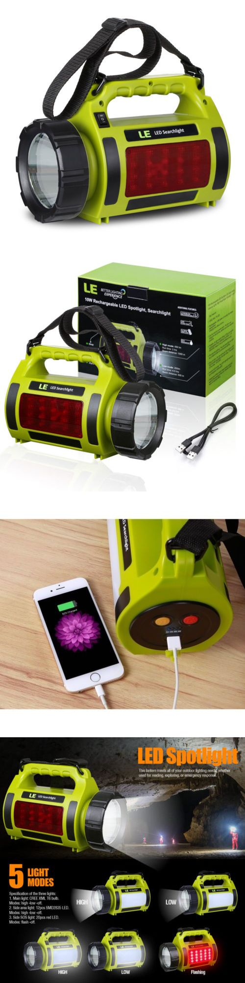 Lanterns 168867: Rechargeable 10W Cree T6 Led Spotlight Flashlight Hand Torch Camping Lamp 18650 -> BUY IT NOW ONLY: $32.3 on eBay!