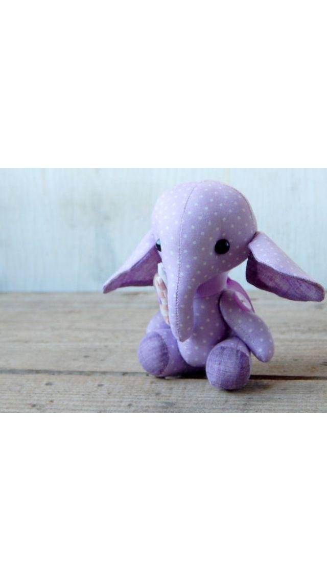 Cute purple elephant