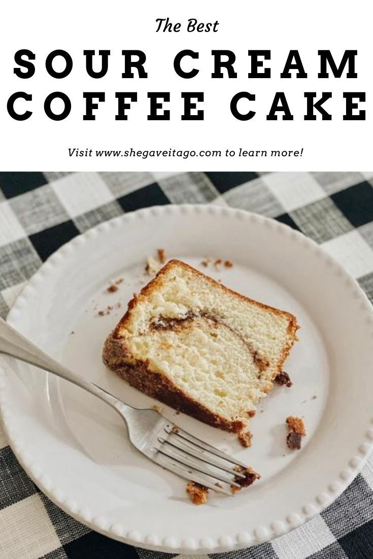 Sour Cream Coffee Cake Recipe She Gave It A Go In 2020 Sour Cream Coffee Cake Coffee Cake Recipes Cake Recipes