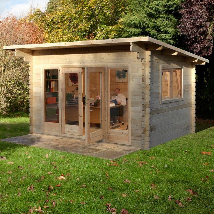 4 x romanee shingle roof log cabin - Garden Sheds 5m X 3m