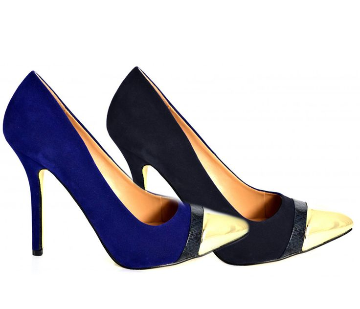 Our last range of gold tipped shoes were really popular so we've gone a step further & introduced some faux suede ones in navy & black.  Really smooth & soft finishing with a extremely shiny gold tip & a higher heel. Let's get ready for xmas: http://www.shoesdays.co.uk/collections/heels-homepage