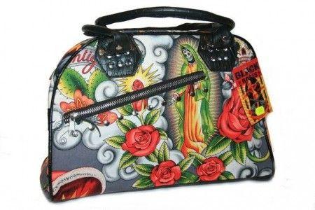 Mexikói/rózsás, koponyás női táska - women's bag