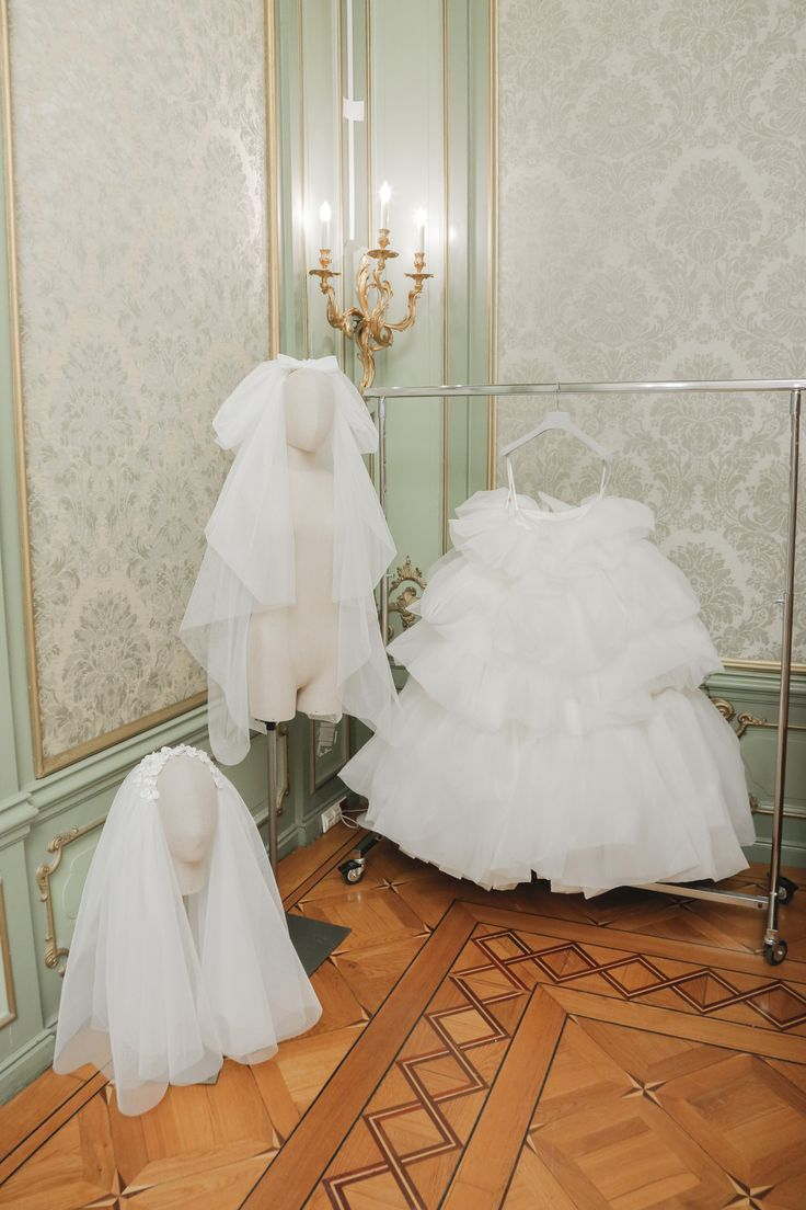 Inside Viktor & Rolf's Bridal Couture Amsterdam Atelier: Viktor & Rolf's wedding collection airs on the side of relatively affordable and seeks to modernize traditional bridal couture references. -- White tulle wedding skirt and veil. | Coveteur.com