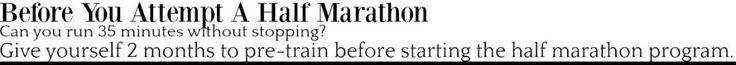 12 Week Half Marathon Training Plan + Eats