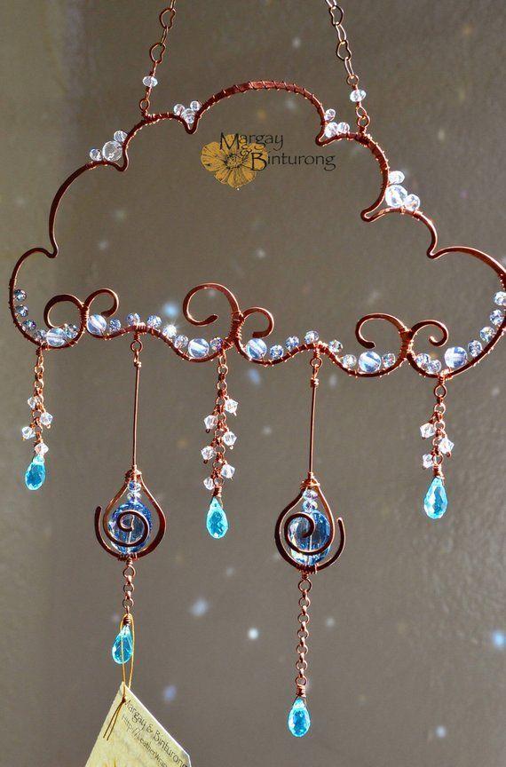 1ac1aec7ed738 Super sparkly Raincloud Suncatcher, Swarovski Crystal gemstone wire ...