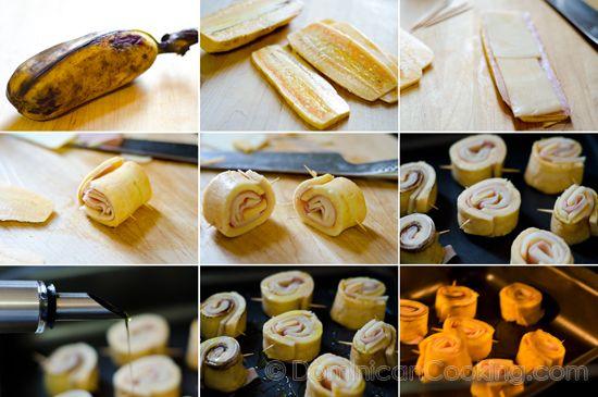 Receta: Piononos de plátano maduro - Cocina Dominicana