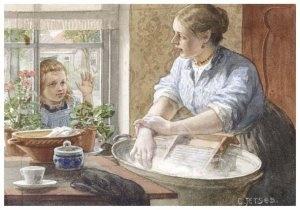 Huishouden  Nostalgie  Thee  Cornelis Jetses  Aquarellen