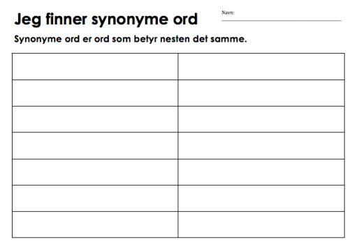 Skjermbilde_synonyme ord_oppgave