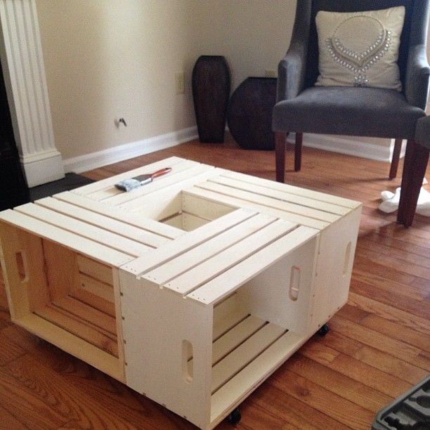 1000+ Ideas About Wine Crate Coffee Table On Pinterest
