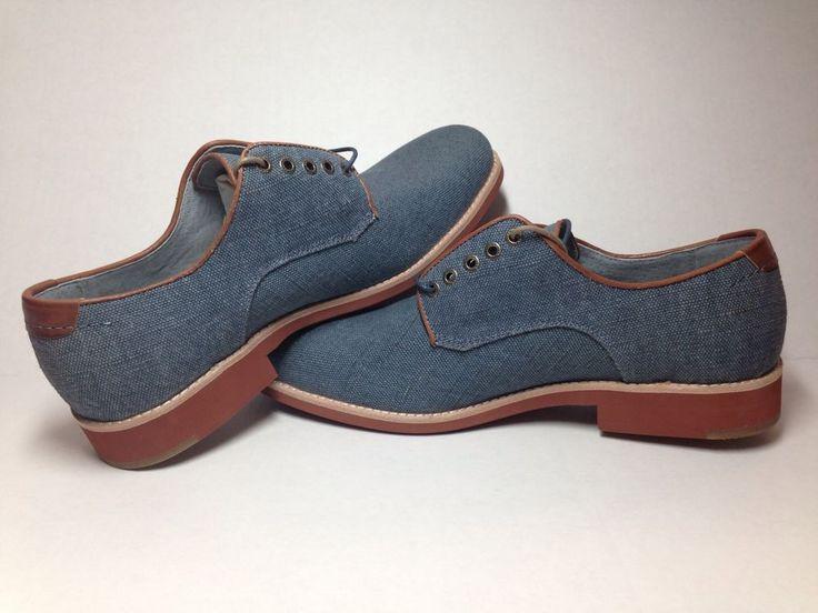Johnston & Murphy Ellington Shoes Oxfords Denim Linen Sheepskin Insoles NEW #JohnstonMurphy #Oxfords