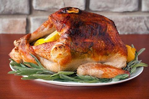 Simple Roast Turkey with Lemon, Herbs, and Rich Turkey ...