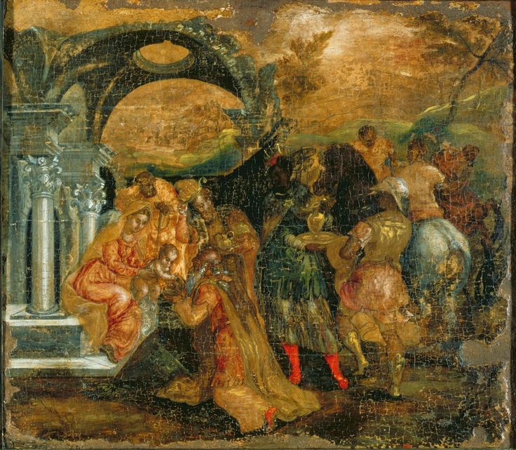 El Greco – manieryzm, Pokłon trzech króli (1), tempera na desce