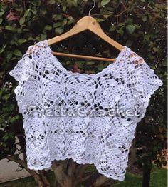 Pretta Crochet: Blusa Cropped de Crochet