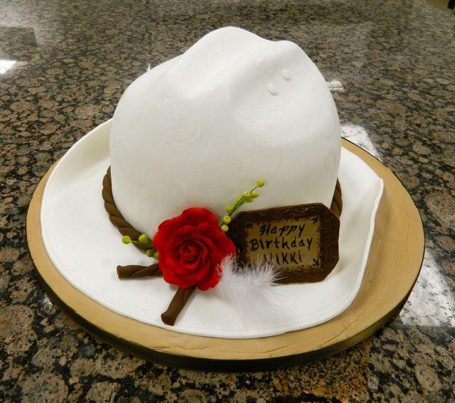 Cowgirl Hat Birthday Cake Happy Birthday Pinterest