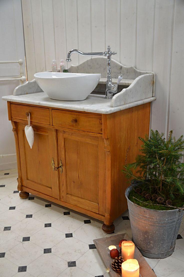 mole valley antiker landhaus waschtisch mit marmoraufsatz von badm bel landhaus land und. Black Bedroom Furniture Sets. Home Design Ideas