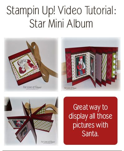Stampin Up Tutorial: Star Book Mini Album