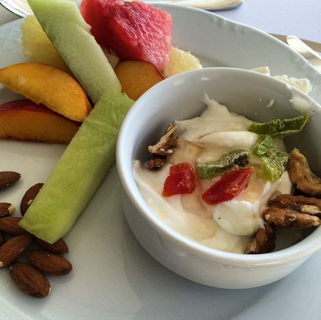 There's no better way to enhance the vitality of your day than enjoying a fresh morning meal at Palladium Boutique Hotel, packed with all the essential proteins and vitamins.  Photo by allaviolettaboutique via Instagram.  #Mykonos #hotel #healthy #nutritious #GoodMorning