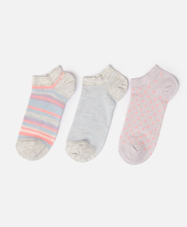 Pack of multi-coloured ankle socks - OYSHO