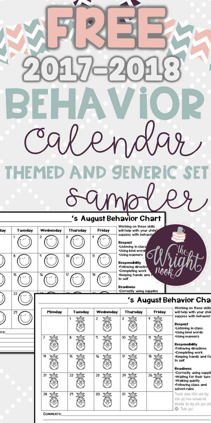 If you are tired of filling out daily charts to send home to parents, then this is perfect for you. No matter your behavior plan, these will be a perfect fit. This is a SAMPLER of my full pack that only contains August calendars. This is a perfect way for you to try it before you buy it!