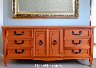 Barcelona Orange Chalk Paint® decorative paint by Annie Sloan | Lily Field Furniture