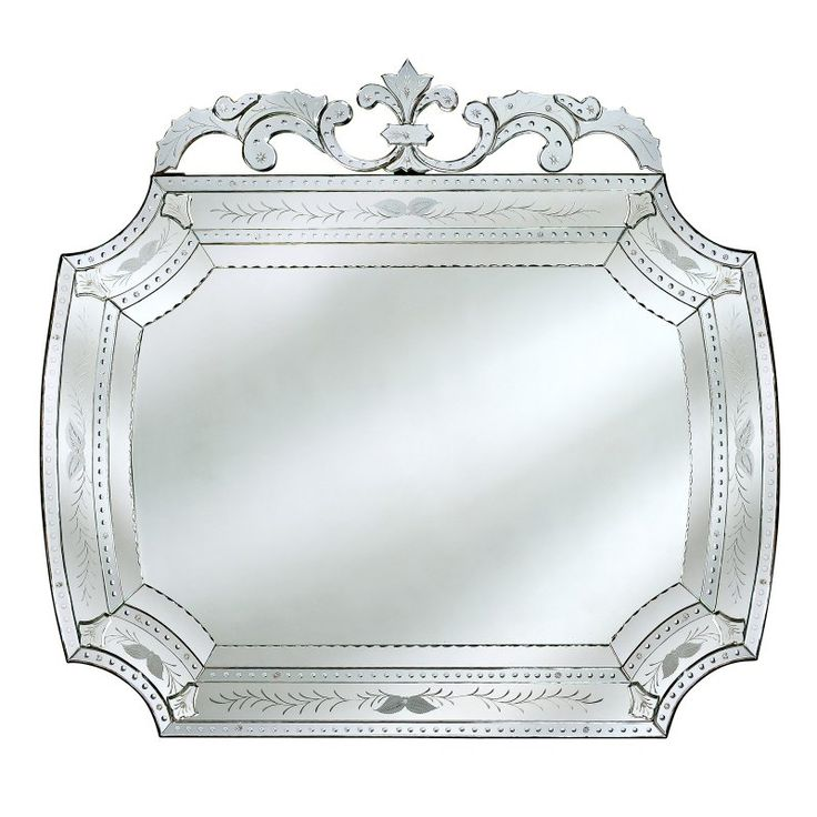 camela venetian black large wall mirror 60w x 55h in vg086l