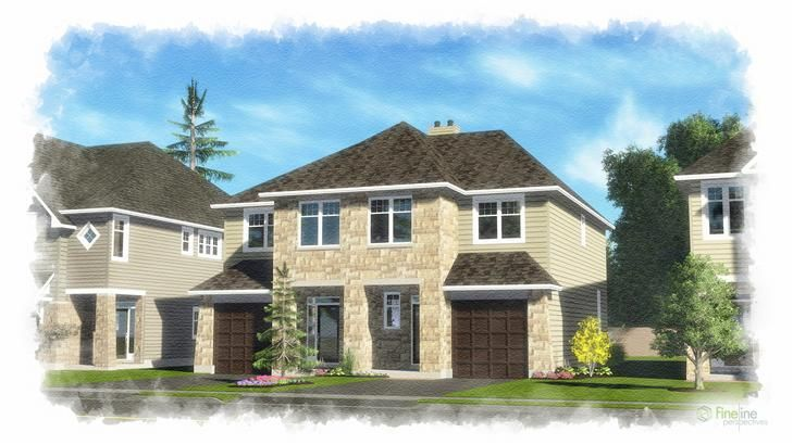 The Middlebury 1846 sq ft 3 bedroom semi detached home - Ottawa new homes for sale