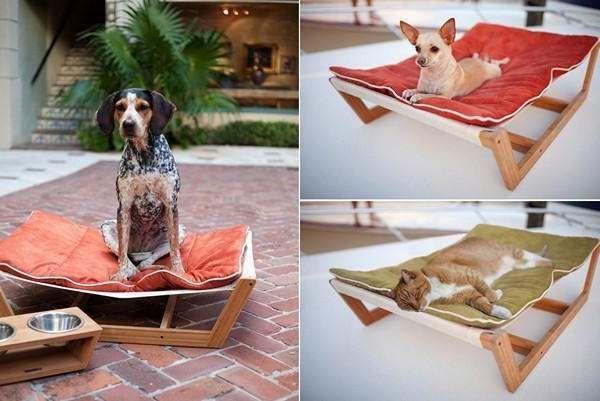 Poezen en #honden, ze vinden het geweldig als ze eenmaal aan een #hangmat zijn gewend.