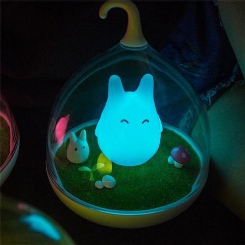Cute Totoro Night Lamp Ghibli Store In 2020 Night Light Unique Lamps Totoro
