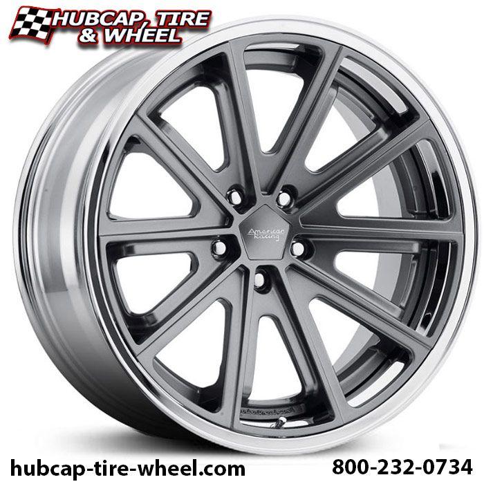 American Racing Vintage VN901 Satin Gray w/ Chrome Lip Wheels & Rims