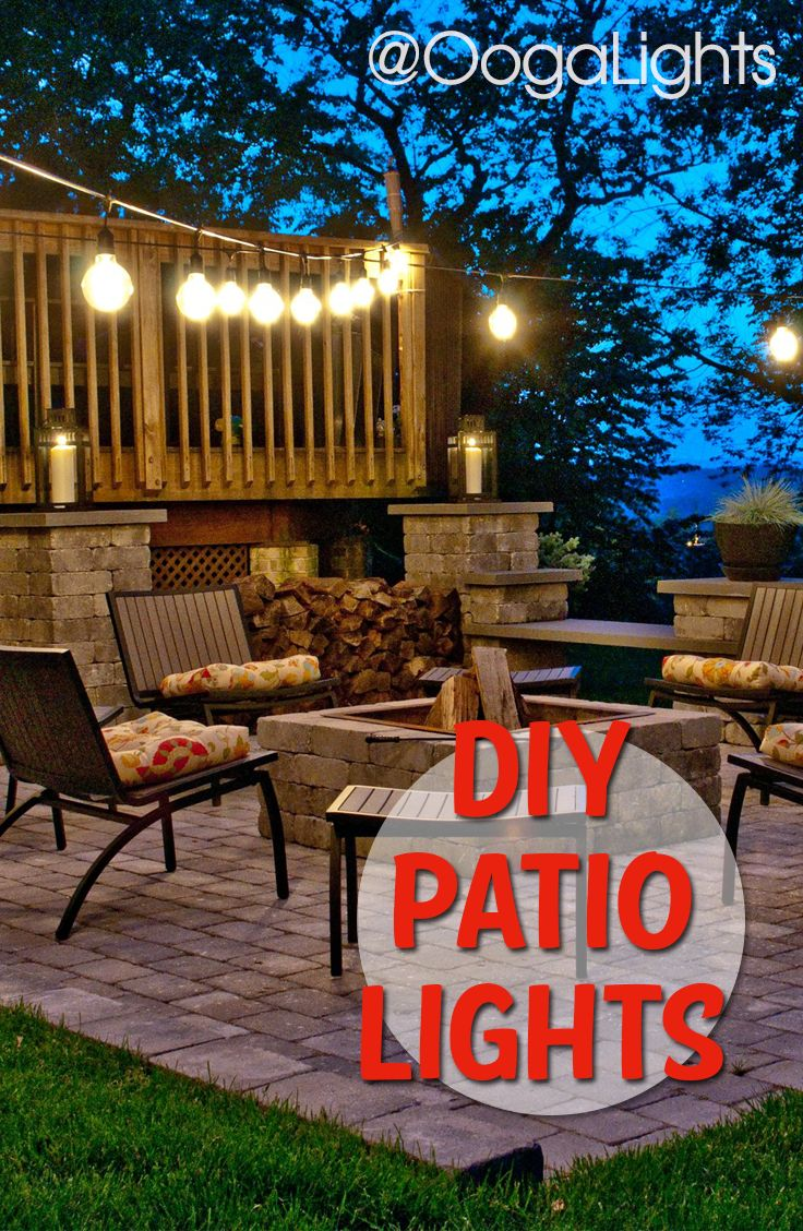 DIY Patio Lighting Is Easy With Our Outdoor String Lights And Accessories.  Take Your Backyard