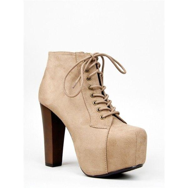 HooH Femmes Lace Up Platform Round-toe Escarpins Martin Boots-Noir-35 7yGBjM
