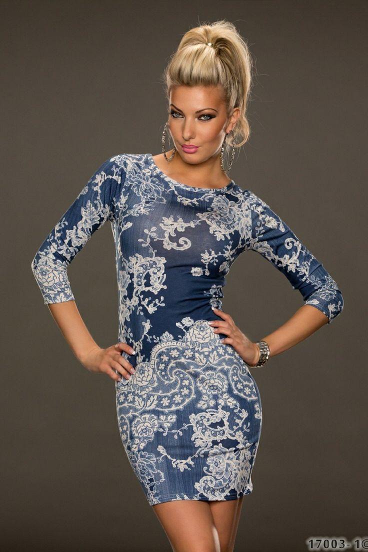 Rochie ElixirFlower Blue >> Click pe poza pentru a vedea pretul. #rochii #rochiideseara #fashion #dress #rochiideocazie