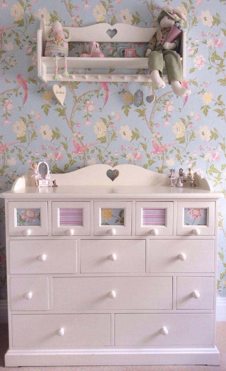 Laura Ashley summer palace wallpaper duck egg