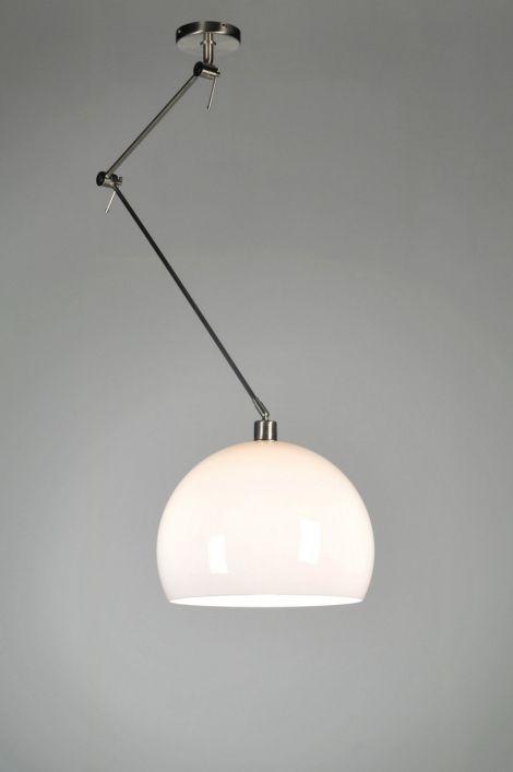 hanglamp 30000: modern, retro, kunststof, staal , rvs, wit, rond ...