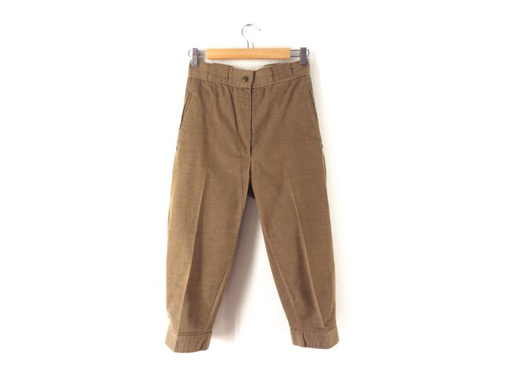 Vintage 80s Sunbuster Knickers - Tan, Light Brown Corduroy Plus Fours, Trousers - Hiking Golf Riding - 26 W XS Small 2 Women Men Children by Iterations on Etsy