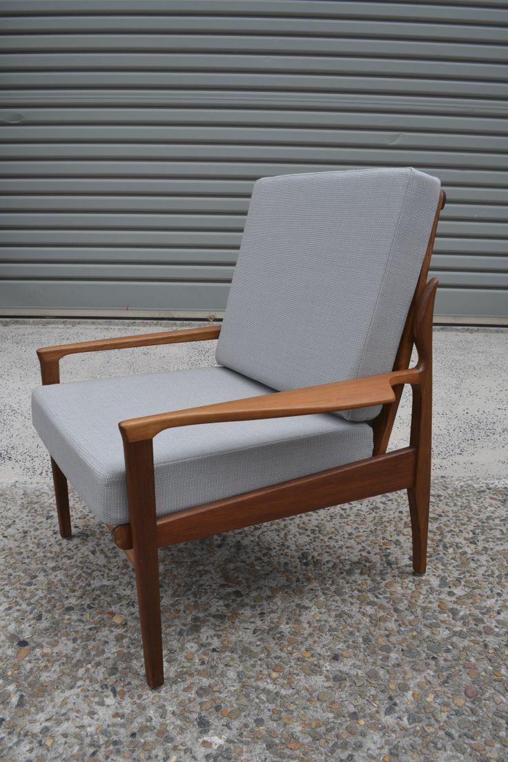 Fred Lowen designed Fler Narvik armchair refurbished by tangerine  teal www.tangerineandteal.com www.facebook/tangerineandteal