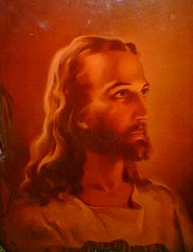 The first image of Jesus I can remember- This picture was in my Grandmother's bedroom.  I wonder what happened to it?