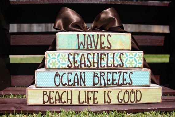 beach life is goodBeach House, Beach Decor, Stacker Block, Home Decor, Ocean Breeze, Beachy Things, Beach Block, Beach Life, Decor Stacker