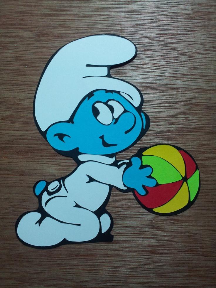 Baby Smurf Die Cut Embellishment by avertigocreation on Etsy, $2.99