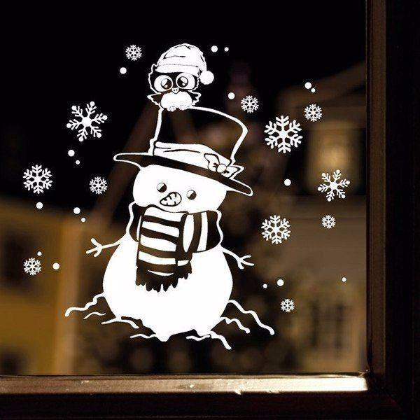 Уютные рисунки на окнах / Рукоделие