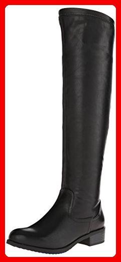 White Mountain Crooner Rund Kunstleder Mode-Knie hoch Stiefel, Black, 37 EU - Stiefel für frauen (*Partner-Link)